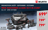 Würth Proxishop Villeneuve La Garenne - TRIO DE MACHINE M CUBE
