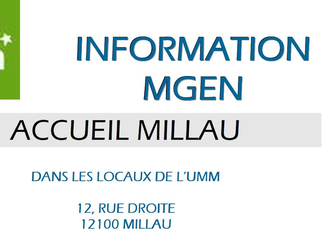 Section MGEN de l'Aveyron - Permanences MGEN à Millau