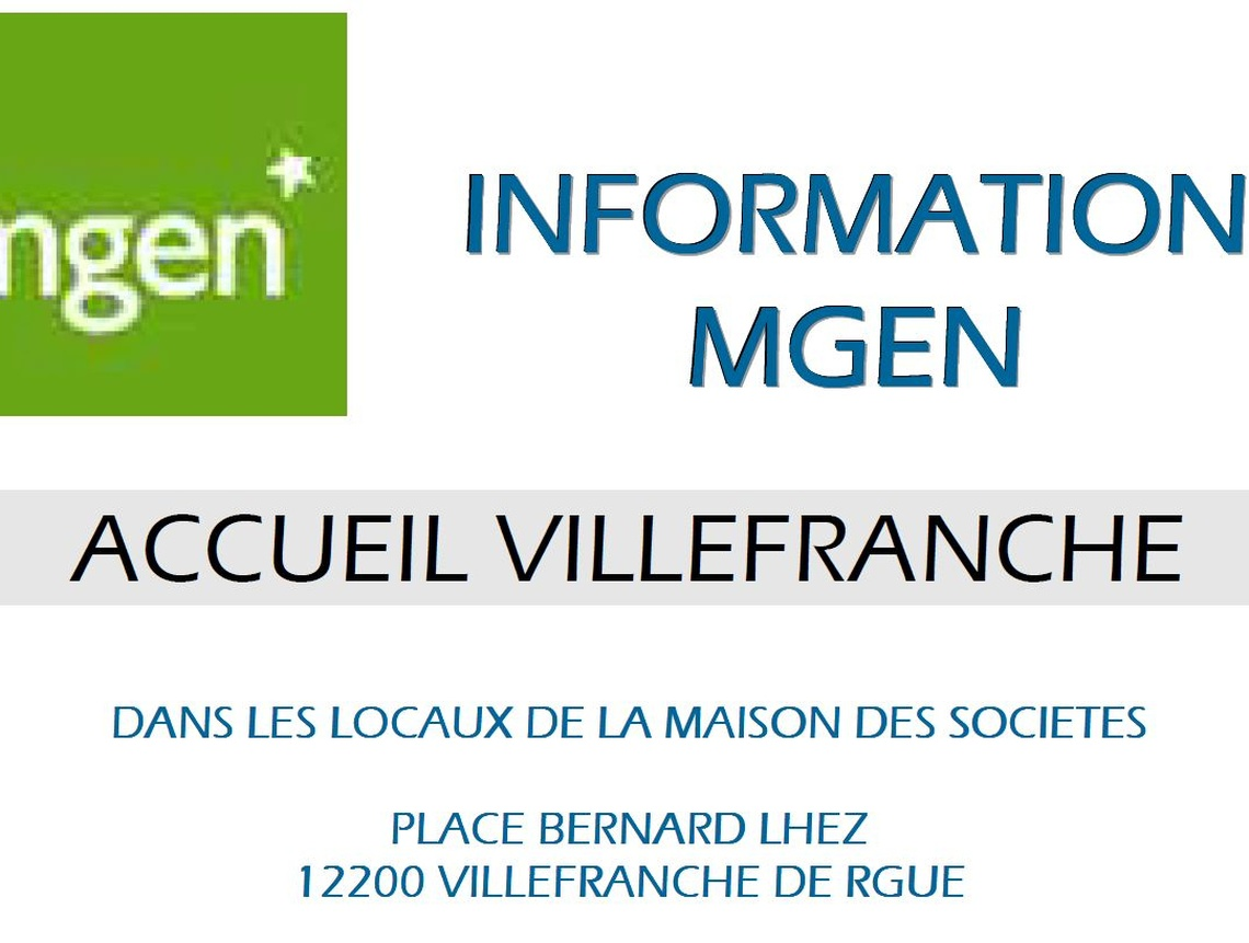 Section MGEN de l'Aveyron - Permanences MGEN à Villefranche-de-Rouergue