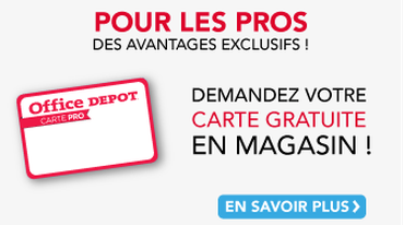 Office DEPOT Paris 20ème Avron - Carte Professionnel Office DEPOT