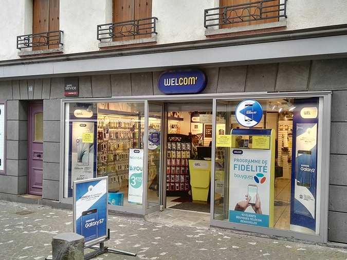 Shop in shop Point Service Mobiles Welcom Saint Flour