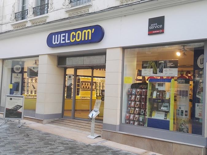 Shop in shop Point Service Mobiles Welcom Autun