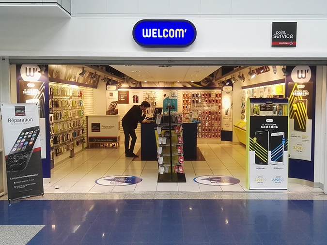 Shop in shop Point Service Mobiles Welcom Issoudun