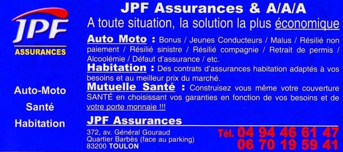 JPF ASSURANCES-TOULON