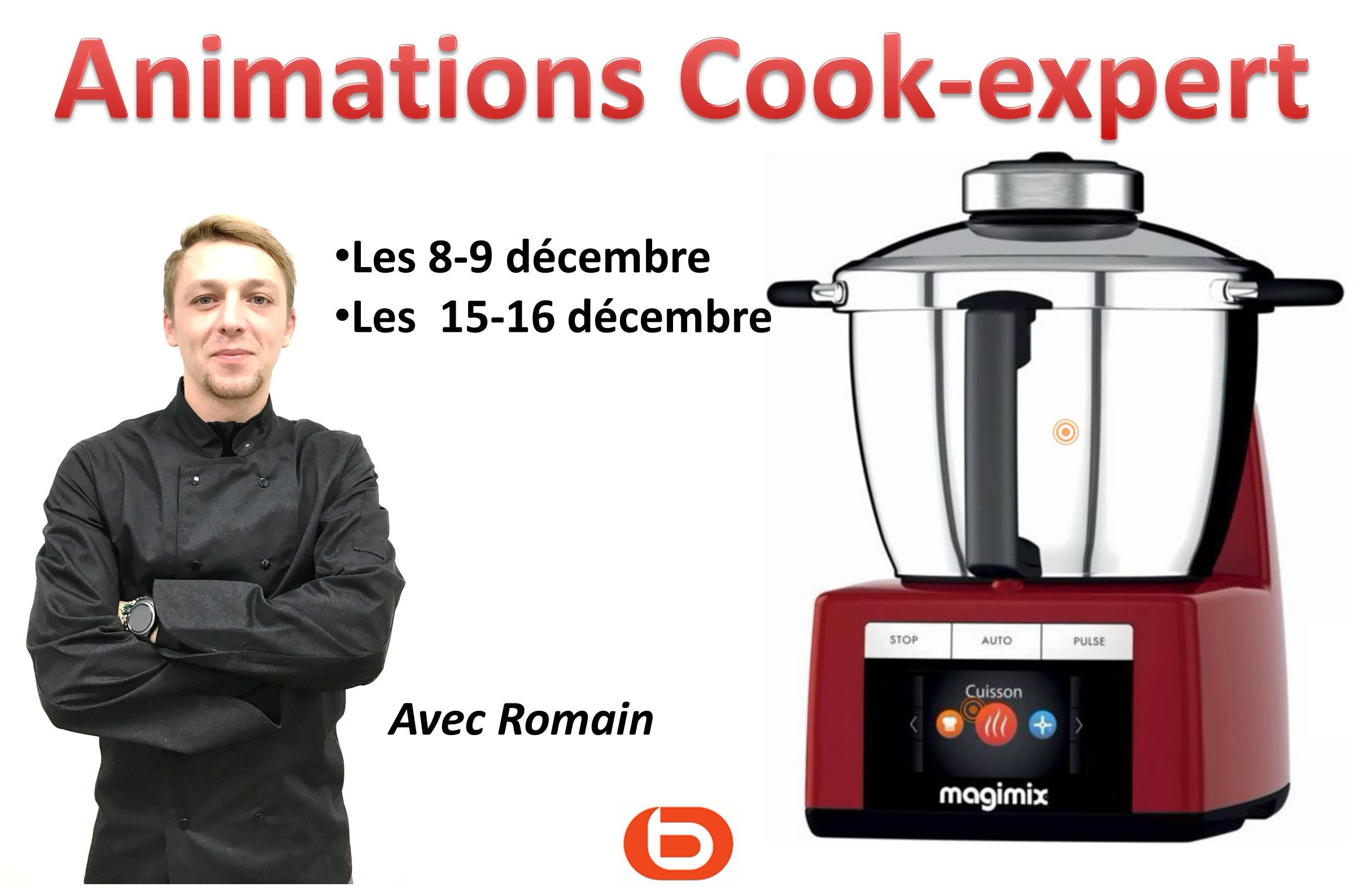 Animations culinaires avec notre chef Romain