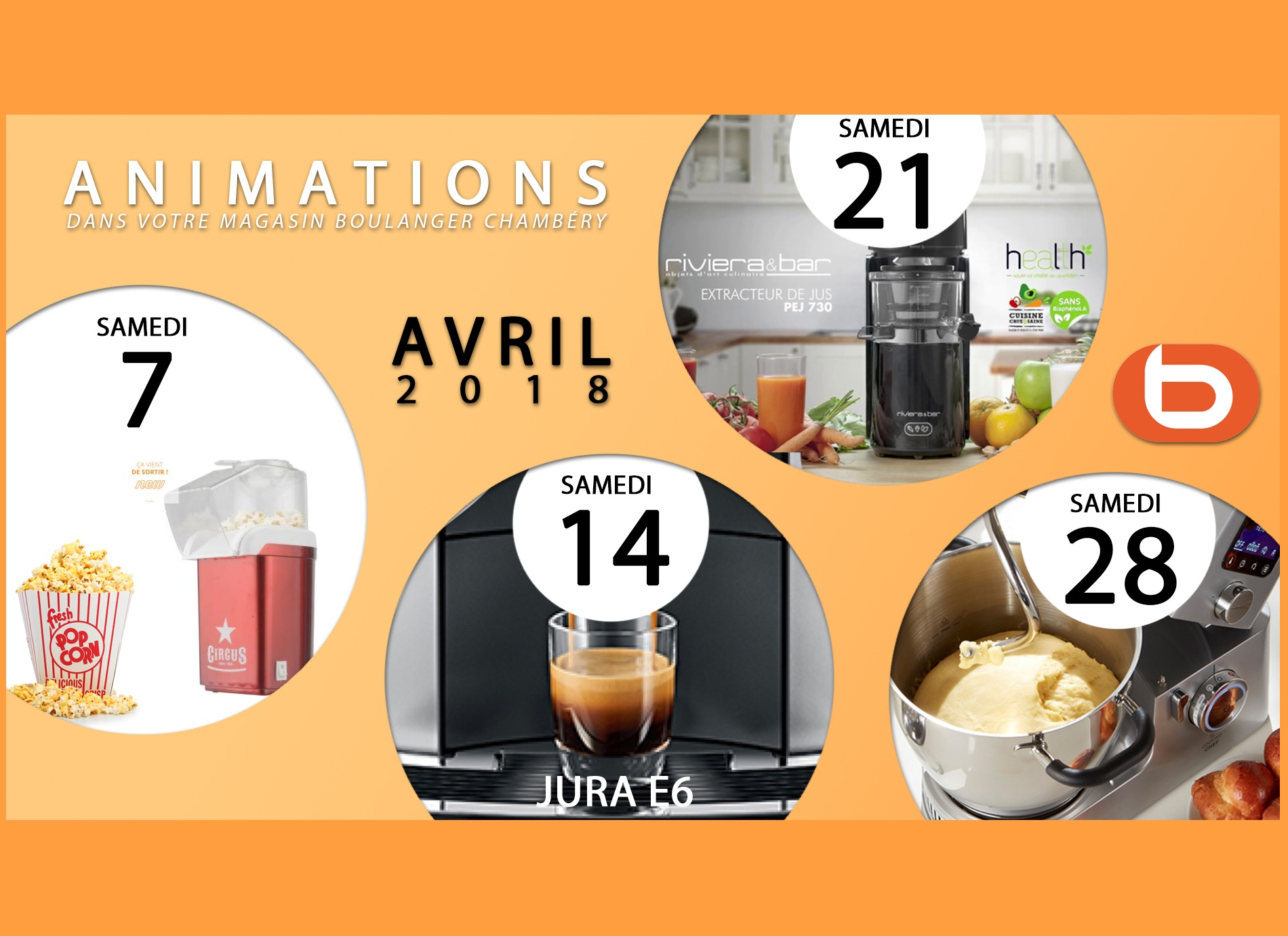 Animations AVRIL 2018