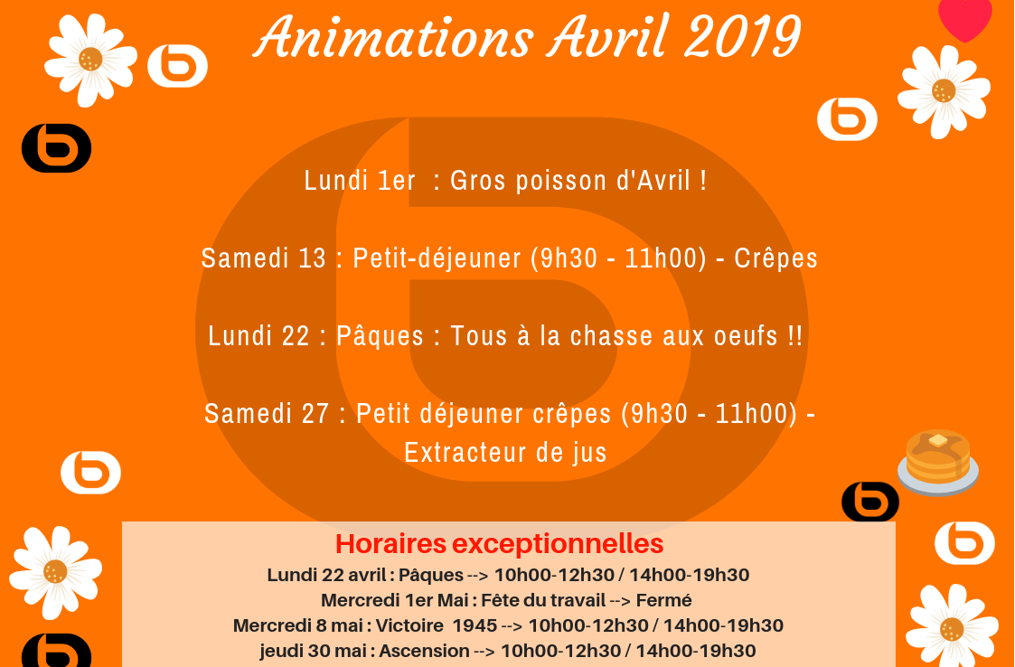 Animations d'avril