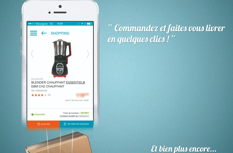 L'application Mobile Boulanger