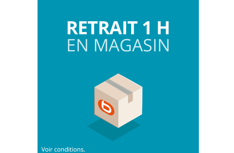 Retrait 1H en magasin !